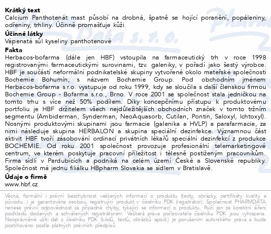 Herbacos Calcium panthotenát mast 30g