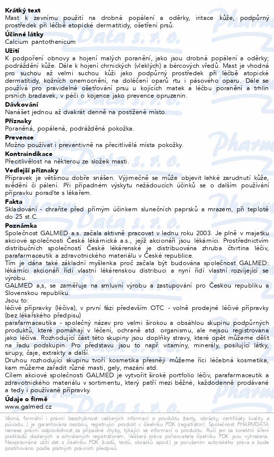 Calcium pantothenicum mast Galmed 30g