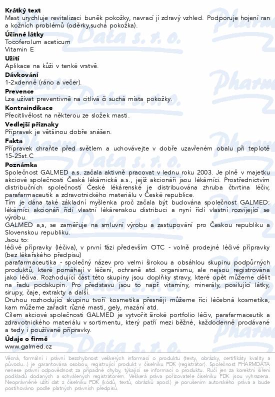 RevitGal mast s vitaminem E 30g Galmed