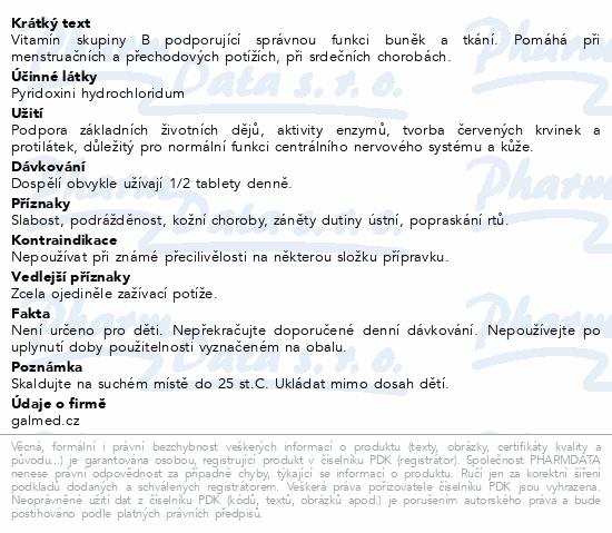 Pyridoxin Galmed tbl 30x24 mg